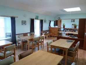 Common room at Beltane House, Papa Westray