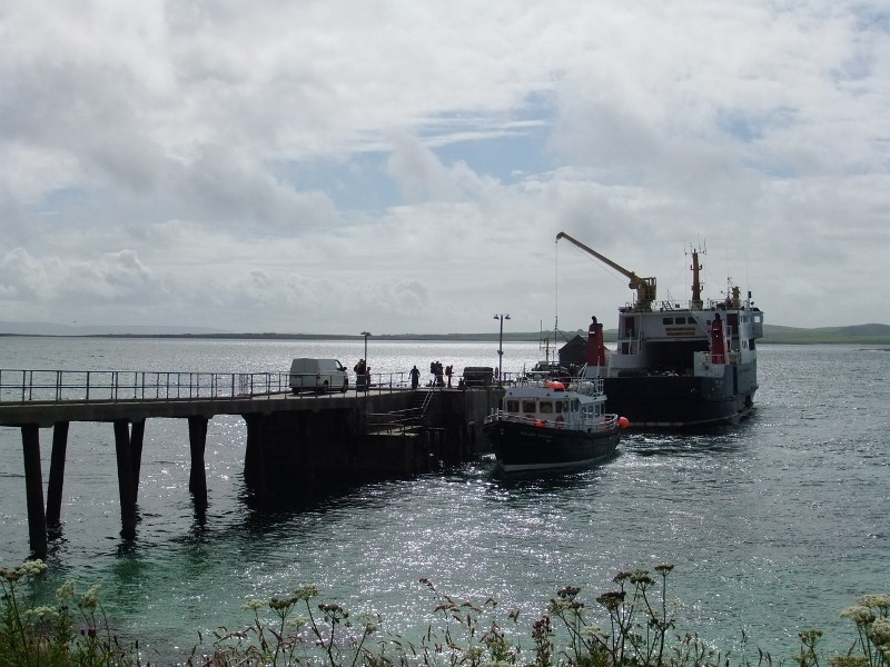 Ferries at Papa Westray pier
