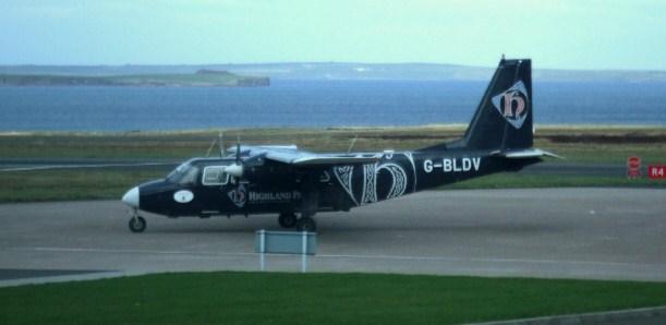 Loganair Islander in Highland Park Livery