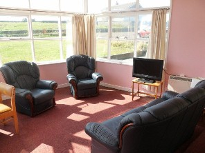 Lounge at Beltane House, Papa Westray