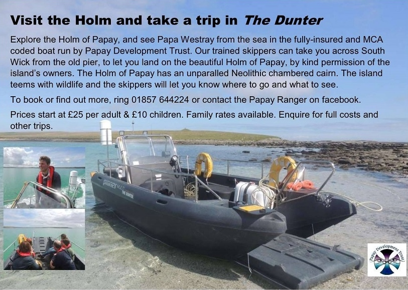 Travel to the Holm of Papa Westray