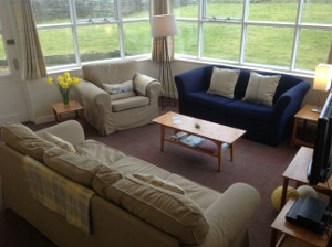 Lounge at Papa Westray Hostel