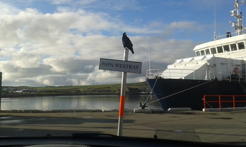KIrkwall Pier - waiting for the ferry
