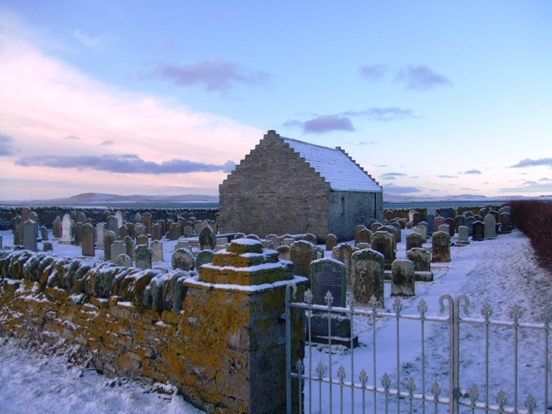 St Boniface Kirk in the snow